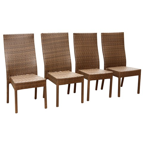 Palermo Outdoor Wicker Dining Chair (Set Of 4) - Brown - Abbyson Living :  Target - Palermo Outdoor Wicker Dining Chair (Set Of 4) - Brown - Abbyson