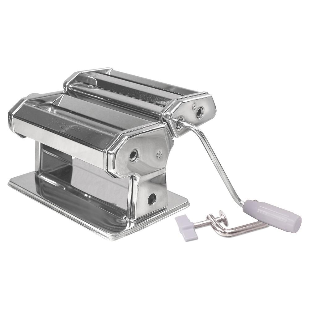 Weston Shiney Silver Manual Pasta Maker Pasta Machine Weston Shiney Silver Manual Pasta Maker Pasta Machine