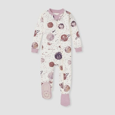 Burt's Bees Baby® Baby Girls' Star Galazy Footed Pajama - Pink