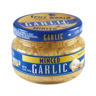 Spice World Minced Garlic - 4.5oz