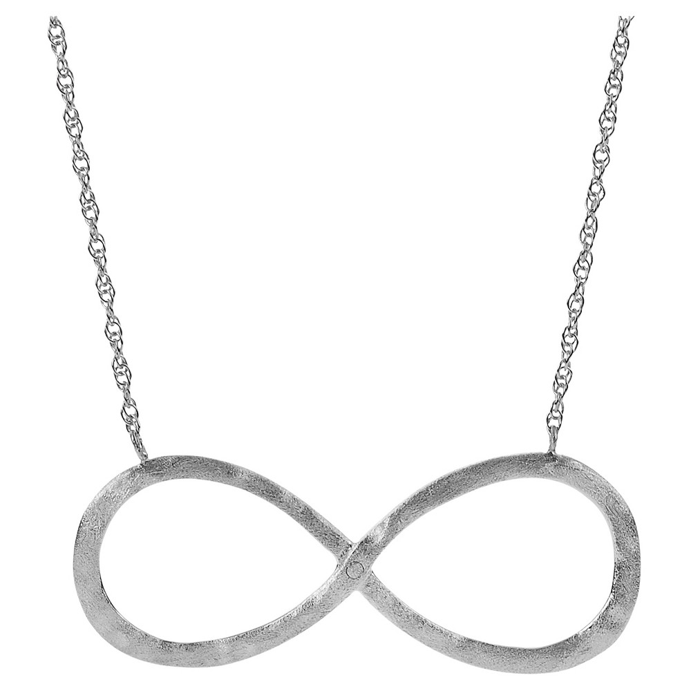 Women's Journee Collection Infinity Pendant Necklace in Sterling Silver - Silver (18)