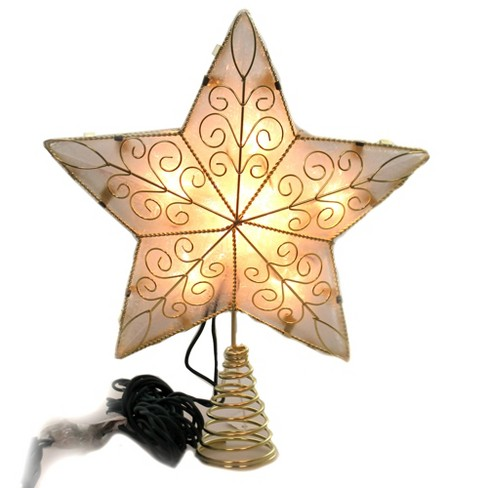 """Tree Topper Finial 10.5"""" Gold Reflector Star Tree Topper Light  -  Tree Toppers - image 1 of 3"""