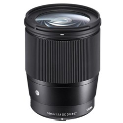 Sigma 16mm f/1.4 DC DN Contemporary Lens for Sony E-mount Cameras, Black