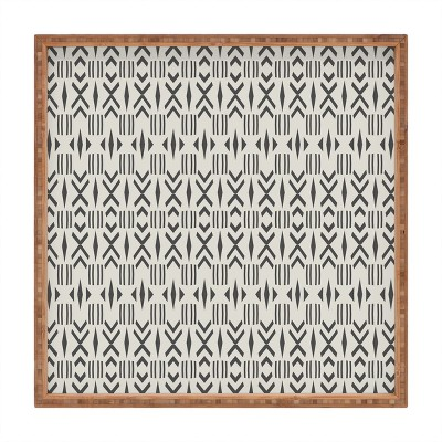 Holli Zollinger Geo Mudcloth Square Bamboo Tray - Deny Designs