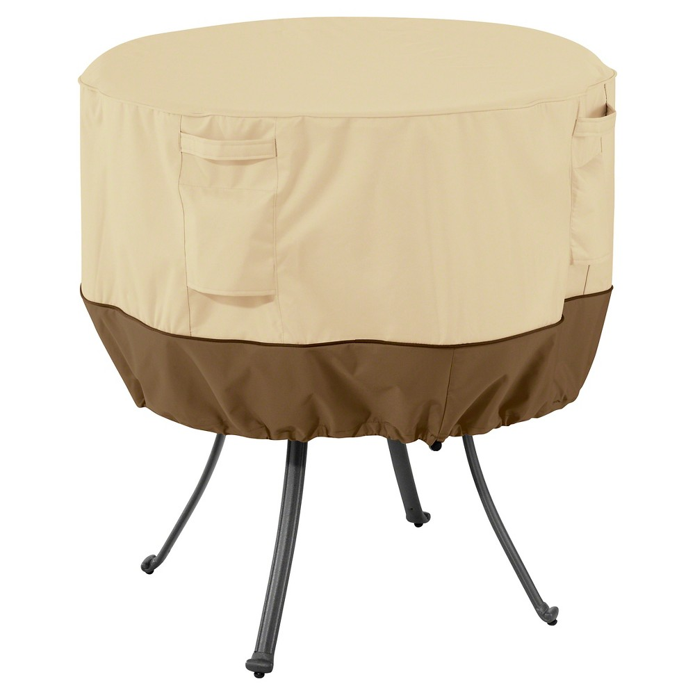 Veranda Large Round Patio Table Cover - Light Pebble - Classic Accessories
