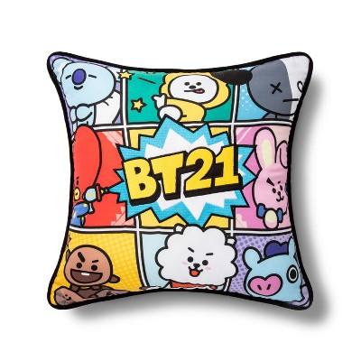 """BT21 16""""x16"""" Line Friends Throw Pillow"""