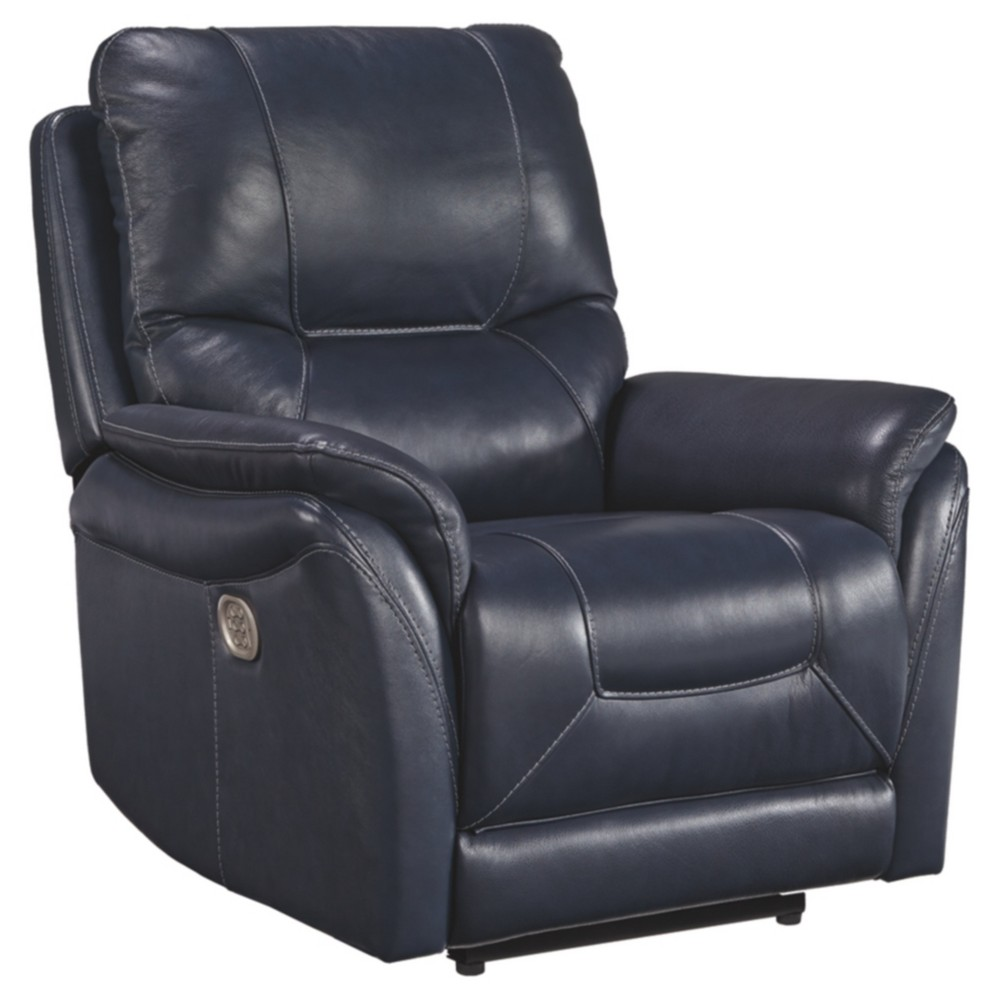 Stolpen Power Recliner with Adjustable Headrest Blue - Signature Design by Ashley