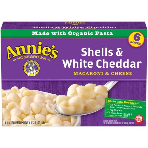 Annie's® Homegrown Organic Macaroni & Cheese Shells & White Cheddar - 6pk - image 1 of 3