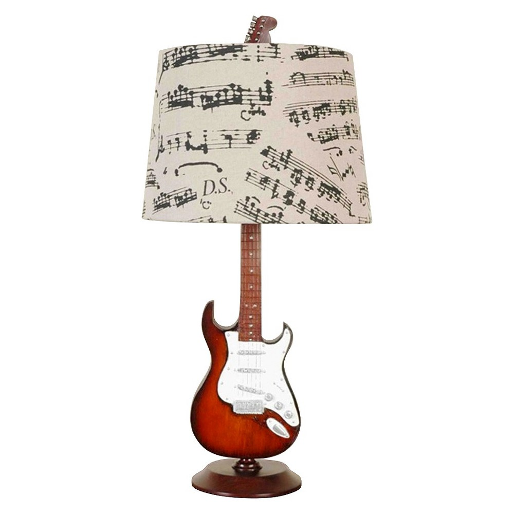 Image of Creative Motions Guitar Desk Lamp (Lamp Only), Brown