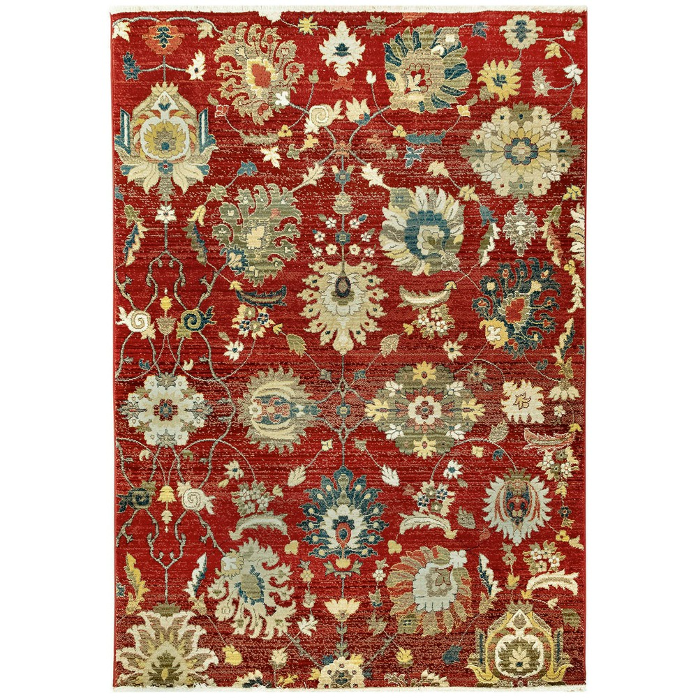5'X8' Floral Woven Area Rug Red - Liora Manne