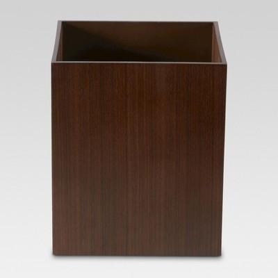Dark Walnut Wastebasket Brown - Threshold™