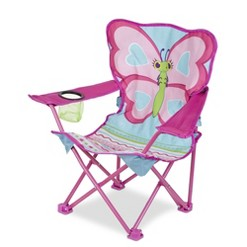Melissa & Doug Sunny Patch Cutie Pie Butterfly Folding Lawn and Camping Chair