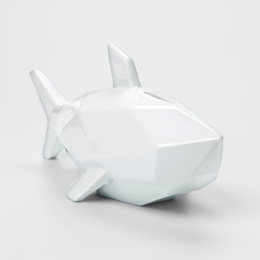 Image of White Shark Decorative Coin Bank - Pillowfort