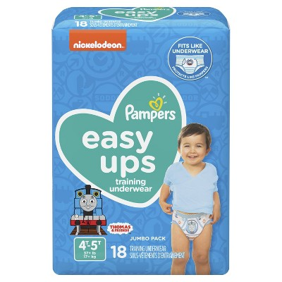 Pampers Easy Ups Boys' Training Pants Jumbo Pack - 4T-5T (18ct)