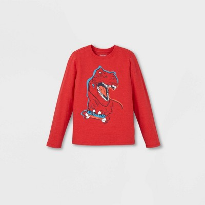 Boys' Dinosaur Gamer Graphic Long Sleeve T-Shirt - Cat & Jack™ Red XXL
