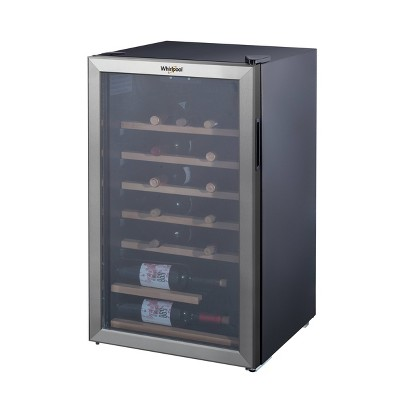 Whirlpool 35 Bottle 3.6 Cu. Ft Wine Fridge-Stainless Steel-WHW36S