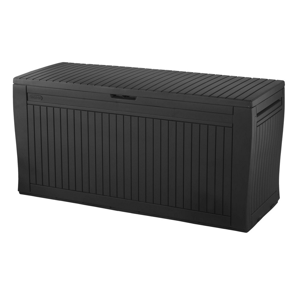 Image of 71gal Comfy Outdoor Storage Deck Box Brown - Keter