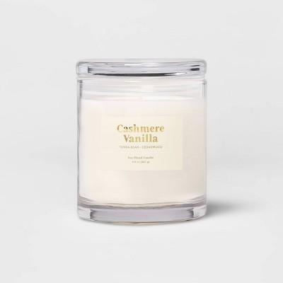 8.5oz Glass Jar Cashmere Vanilla Candle - Threshold™