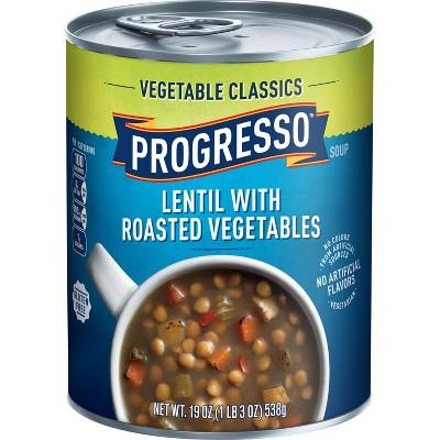 Progresso Gluten Free Vegetable Classics Lentil with Roasted Vegetables Soup - 18.5oz