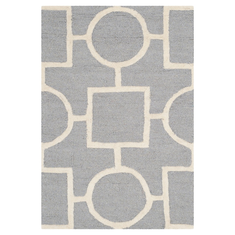 Sumner Accent Rug - Silver / Ivory ( 2' X 3' ) - Safavieh, Silver/Ivory