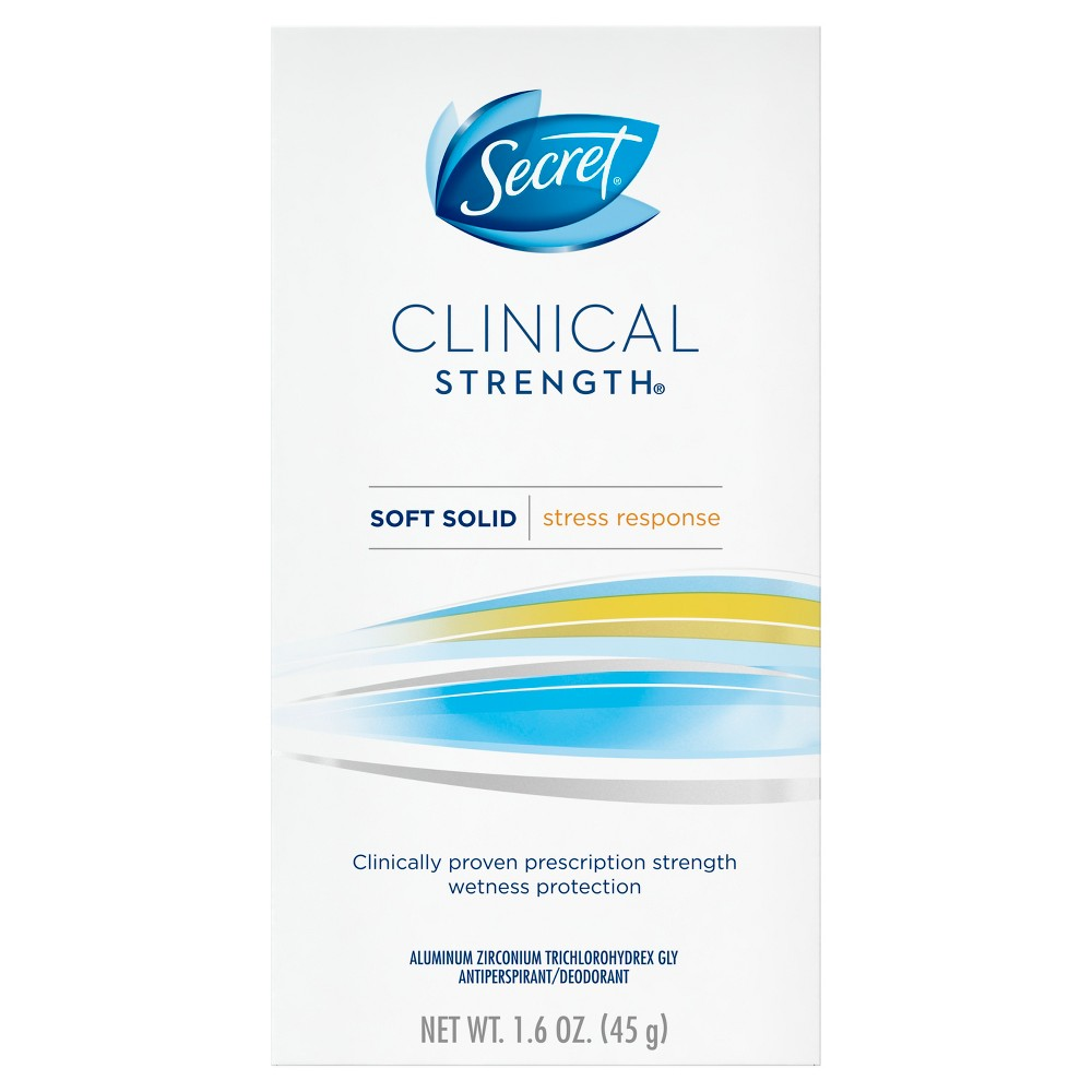 Secret Clinical Strength Stress Response Soft Solid Antiperspirant and Deodorant - 1.6oz