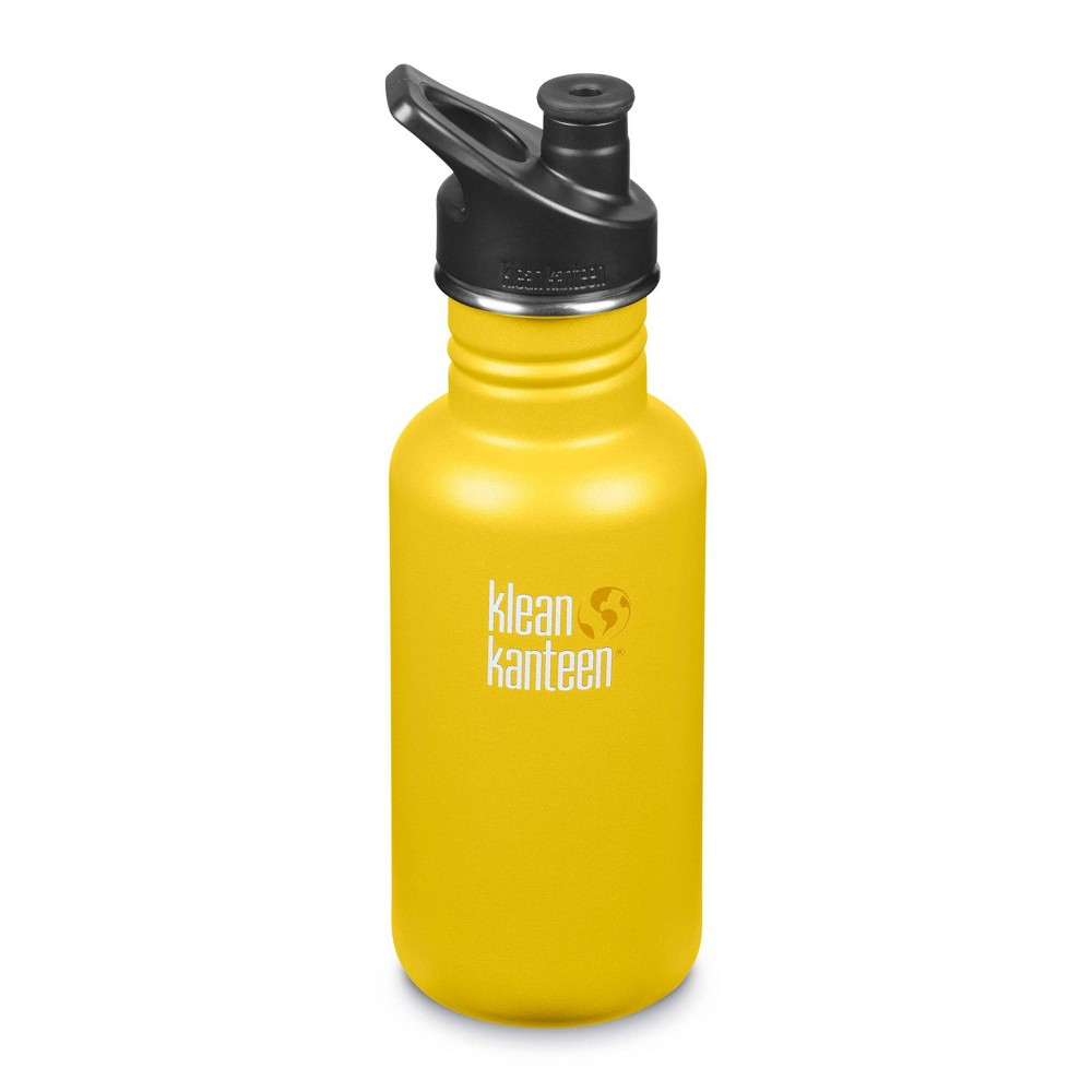 Klean Kanteen 18oz Classic Stainless Steel Water Bottle With Sport Cap Lime