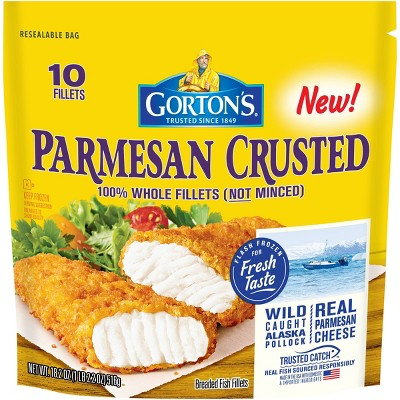 Gorton's Parmesan Crusted Fish Fillets - Frozen - 18.2oz
