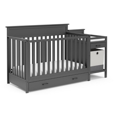 Storkcraft Arizona All-in-One Convertible Crib n' More - Gray