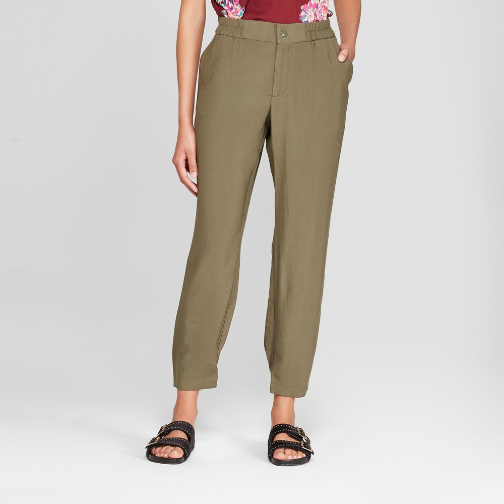Women's Utility Joggers - A New Day Olive (Green) XL