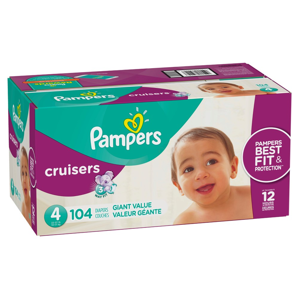 Pampers Cruisers Disposable Diapers Giant Pack - Size 4 (104ct)