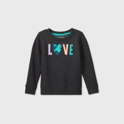 Toddler Girls' Fleece Pullover Sweatshirt - Cat & Jack™