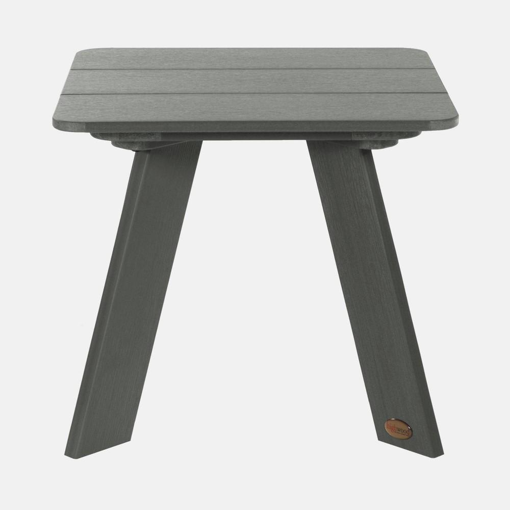 Image of Barcelona Modern Patio Side Table Coastal Teak Gray - highwood