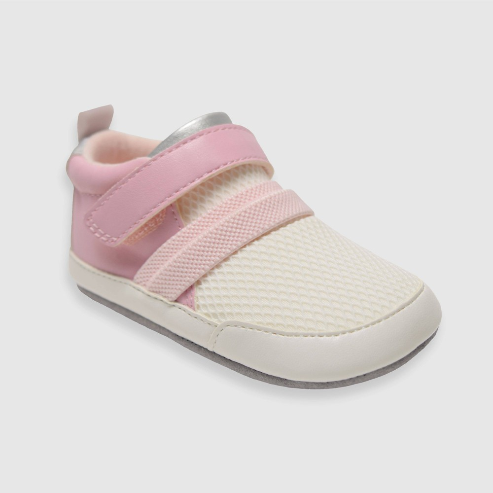 Image of Baby Girls' Ro+Me by Robeez Jill Athletic Sneakers - Pink 12-18M, Toddler Girl's, MultiColored