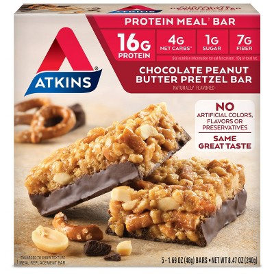Atkins Meal Bar - Chocolate Peanut Butter Pretzel - 5ct