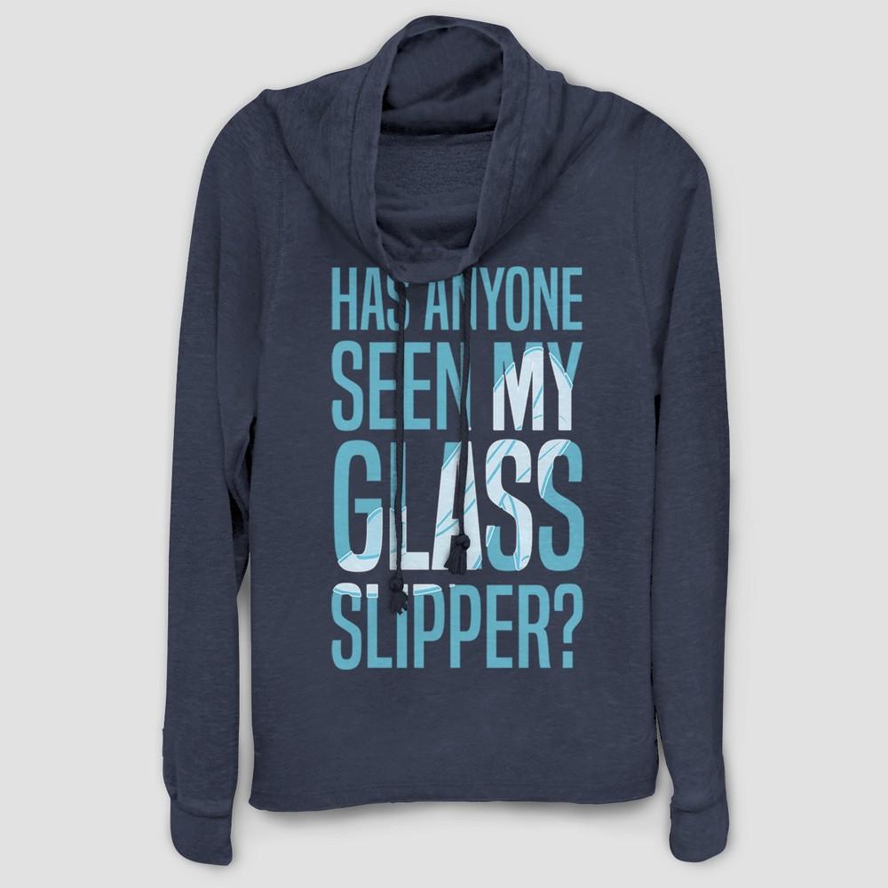 Women's Cinderella Have You Seen My Slipper Sweatshirt - (Juniors') Navy XL, Blue