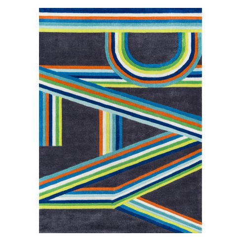 2'X3' Letters Tufted Accent Rug Blue - Momeni - image 1 of 4