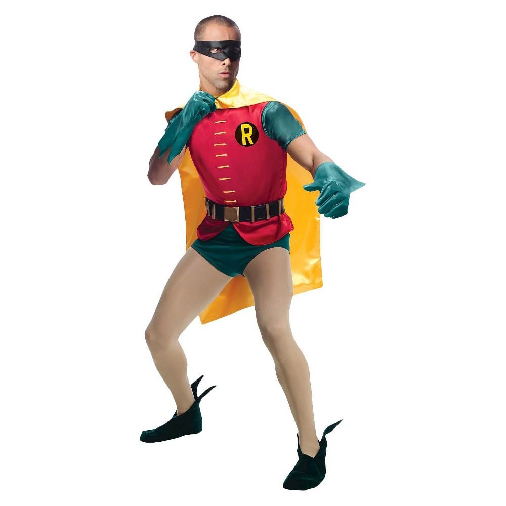Image of Halloween Robin Men's Classic Batman 1966 Series Grand Heritage Costume, Size: Small