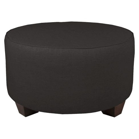 Remarkable Custom Upholstered Round Cocktail Ottoman Skyline Furniture Short Links Chair Design For Home Short Linksinfo