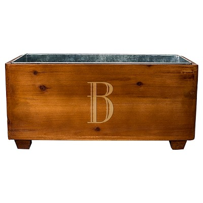 Cathy's Concepts Personalized Wooden Wine Trough A-Z