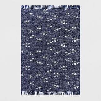 5' x 7' Staccato Outdoor Rug Navy - Threshold™