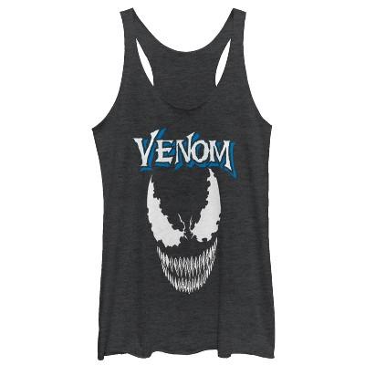 Women's Marvel Venom Face Logo Racerback Tank Top