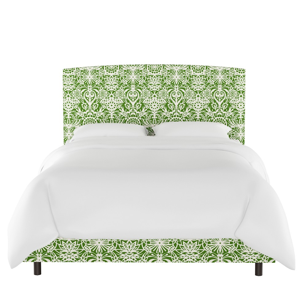 Upholstered Bed California King Floral Green/White - Opalhouse, Green & White Floral