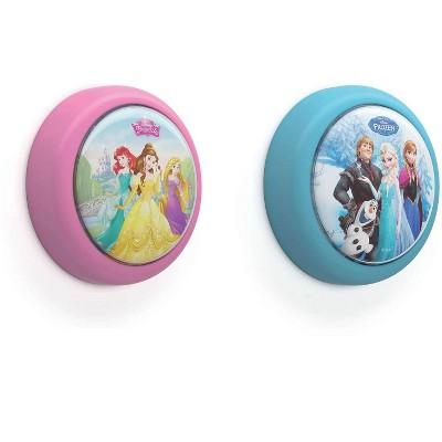 Philips Disney Princess and Disney Frozen Battery-Powered LED Push Night Light