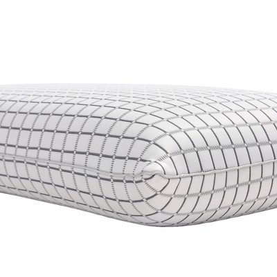 King Charcoal Infused Ventilated Foam Pillow White - Classic Brands