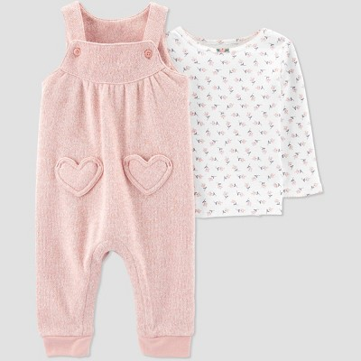 Baby Girls' 2pc Heart Top & Bottom Sets - Just One You® made by carter's 9M