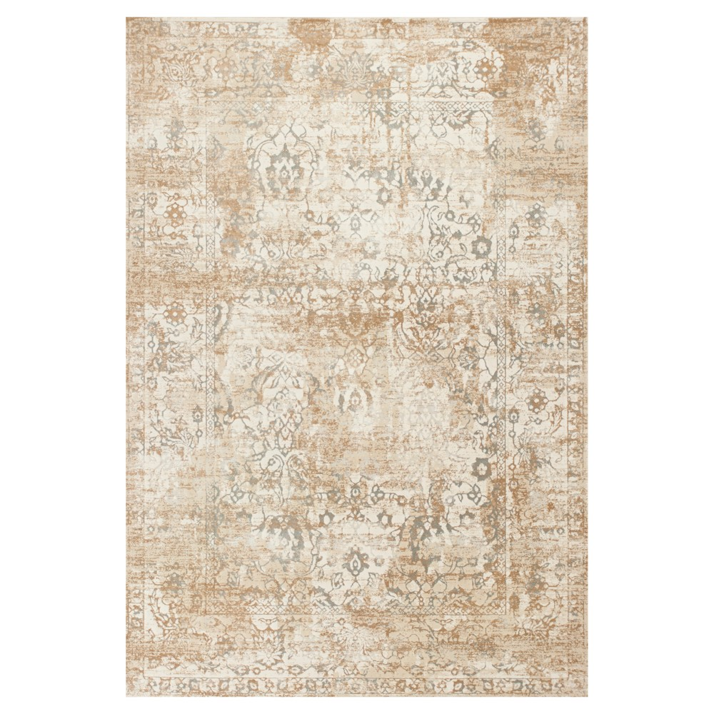 "Image of ""Beige Spacedye Design Pressed/Molded Area Rug 3'3""""x4'7"""" - KAS Rugs, Size: 3'3"""" x 4'7"""""""