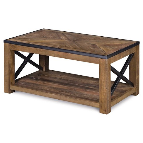 Penderton Wood Small Rectangular Cocktail Table - Natural Sienna - Magnussen Home - image 1 of 3