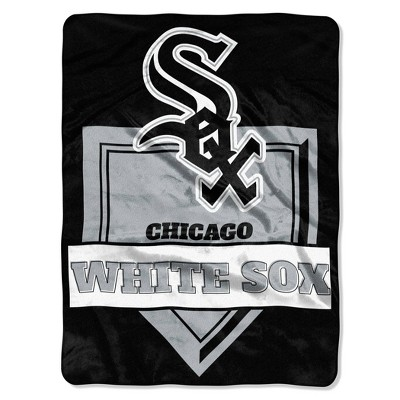 MLB Chicago White Sox Home Plate Raschel Throw Blanket