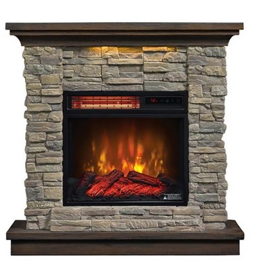 Duraflame Austin Infrared Electric Fireplace Mantel Package in Stone - 18WM30048-16001