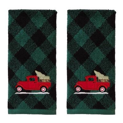 2pk Farm Truck Hand Towel Set Green - SKL Home